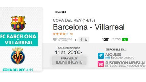 Barcelona Villarreal de Copa en Yomvi