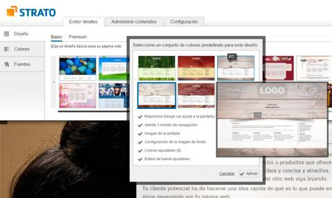 Elige una plantilla para tu web