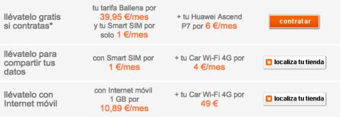 tarifas orange Car Wi-Fi 4G