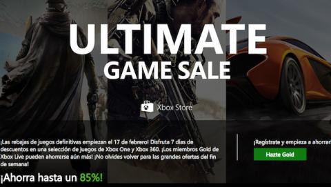 Microsoft Ultimate Game Sale, ofertas en juegos para Xbox