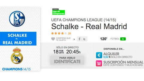 Schalke 04 Real Madrid en YOMVI