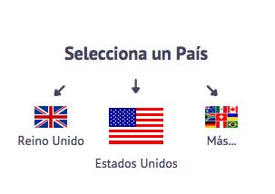 Seleccionar país hola