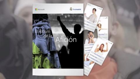 Microsoft estrena el álbum digital del Real Madrid.