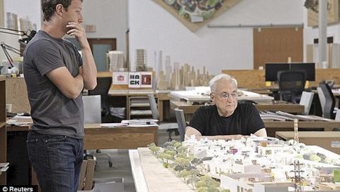 La Ciudad de Facebook albergará a 10.000 personas y será construida por el arquitecto del Guggenheim de Bilbao.