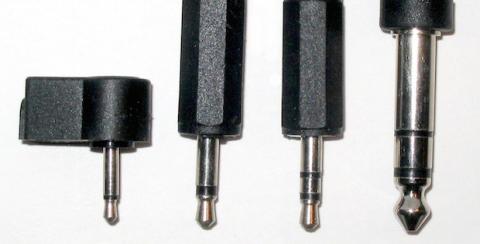 tipos de conectores de audio o jacks