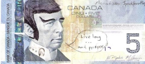 Spock en los billetes canadienses