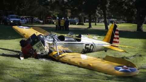 Harrison Ford en herido tras estrellarse en una avioneta