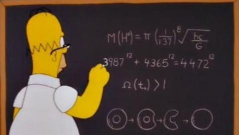 homer simpsons fórmula boson higgs