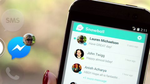 Snowball, la app que junta a WhatsApp, Facebook y Twitter