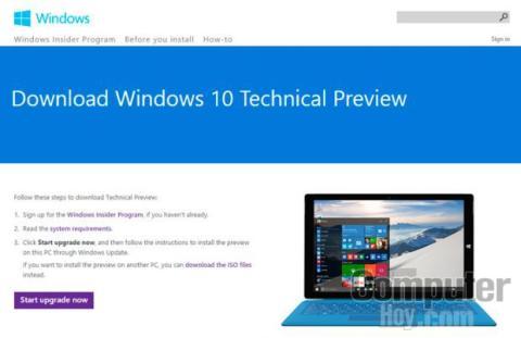 Descarga el activador de la actualización desde la página de Windows