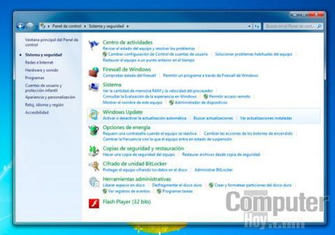 Accede a Windows Update desde el Panel de control