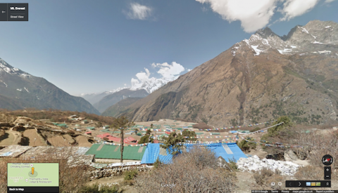 Street View en el Everest