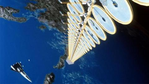transmitir energía inalámbrica 55 metros