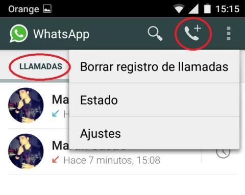 WhatsApp llamadas de voz
