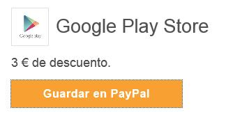 paypal cupones google play