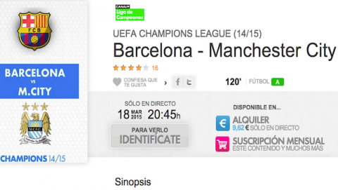 Barcelona Manchester City en Yomvi