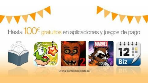 Tienda Apps de Amazon regala apps y juegos de pago por valor de 100€.