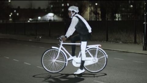 LifePaint, el aerosol de Volvo que ilumina a los ciclistas.