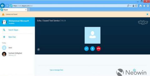 Skype versión web