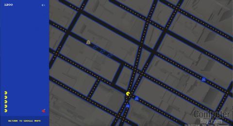Google te deja jugar Pac-Man en Google Maps
