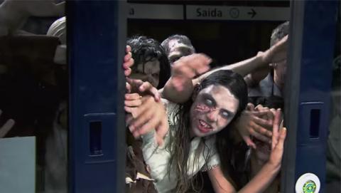 zombies metro broma viral arrasa internet