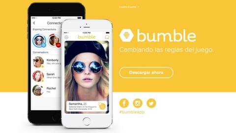 Bumble, la app para ligar de la fundadora de Tinder, en donde las chicas inician las conversaciones.