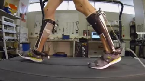 Exoesqueleto para andar con menos esfuerzo
