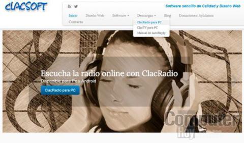 Descarga ClacRadio desde su página web