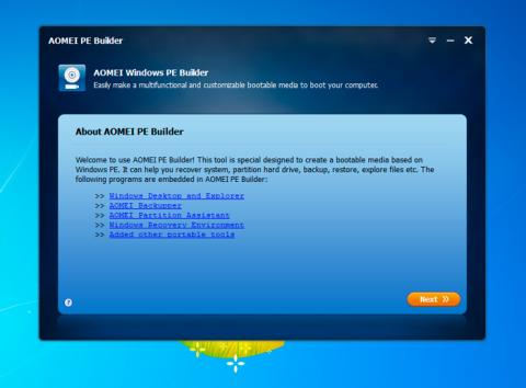 Descarga e instala AOMEI PE Builder