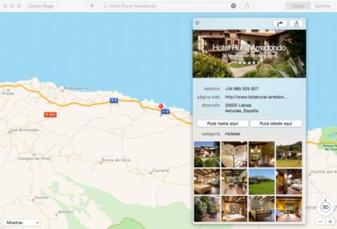 Apple Mapas muestra reseñas de hoteles de Tripadvisor y Booking.com