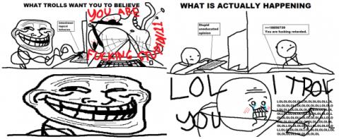 Primera imagen de trollface