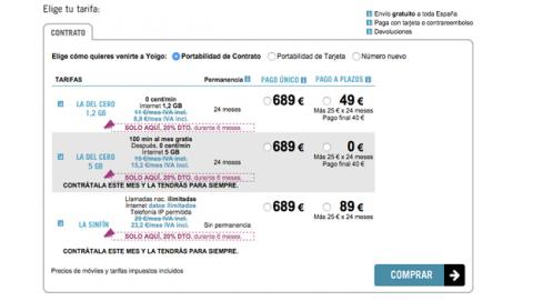Tarifa 0 euros Samsung Galaxy S6