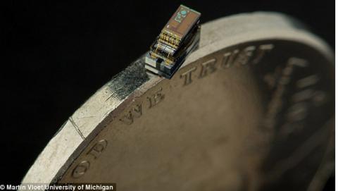 Crean un ordenador más pequeño que un grano de arroz