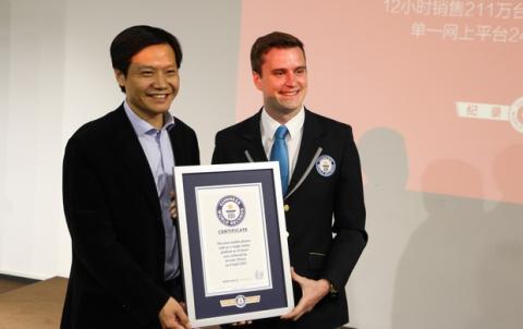 Xiaomi en el Libro Guinness de los Récords