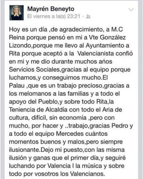 carta concejal cultura faltas ortografía facebook