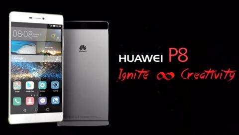 Así es el nuevo móvil Huawei P8 presentado hoy