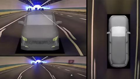 Un monitor 3D elimina los puntos ciegos en la conducción