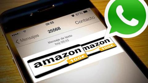 Cuidado, nuevo virus a través de WhatsApp con Amazon como gancho