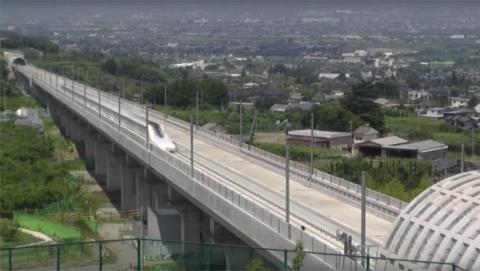 Un tren de levitación magnética de Japón alcanza 590 km/h