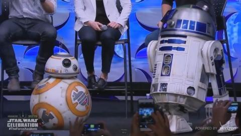 BB-8, el robot rodante de Star Wars que se ha hecho viral es real.
