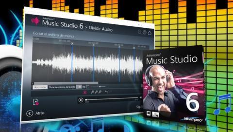 Ashampoo Music Studio 6, crea, edita, extrae, mezcla y produce tu propia música.