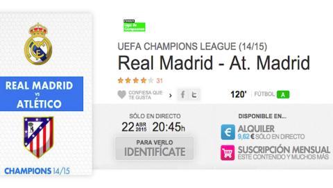Real Madrid Atlético de Madrid de Champions en Yomvi