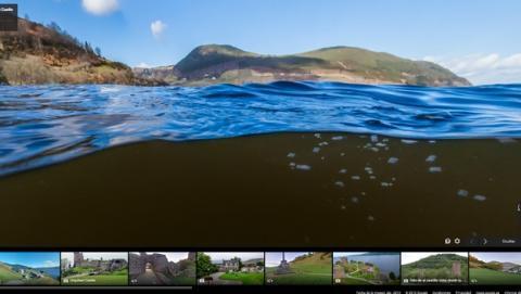 Ya puedes buscar al Monstruo del Lago Ness con Google Maps.