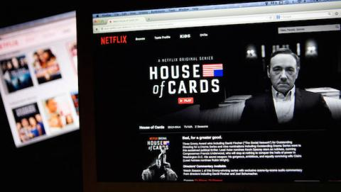 House of Cards visto en Netflix