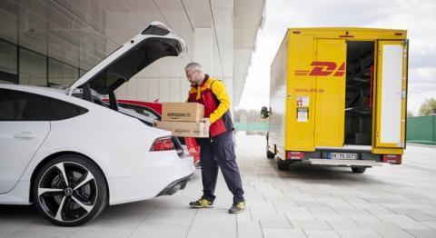 Amazon reparto maletero del coche