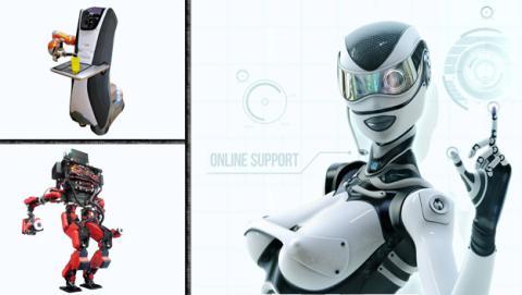 Los robots son toda una realidad, estos son un ejemplo