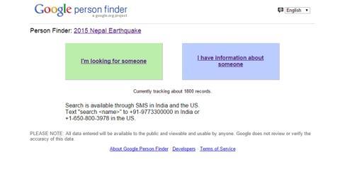 Google Facebook terromoto de Nepal