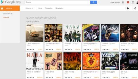 Descarga gratis discografía Maná Google Play