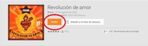 Discografía gratís Maná Google Play