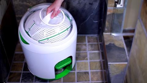 Drumi, la lavadora a pedales que lava la ropa sin electricidad.